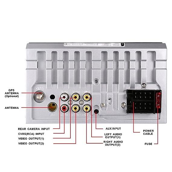 Autoradio Bluetooth, Auto Radio Doble 2 Din Pantalla estéreo del coche Bluetooth 7 Navegación GPS táctil MP5 / RADIO / Tarjeta SD / Reproductor ...