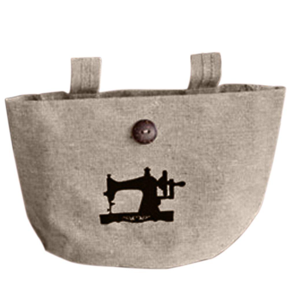 Afco Linen Wall Door Hanging Storage Bag Case Basket Closet Storage Holder Organizer Bin Decor size Sewing Machine