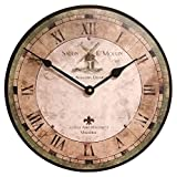French Salon Wall Clock by J. Thomas 24'' - Made in the USA!