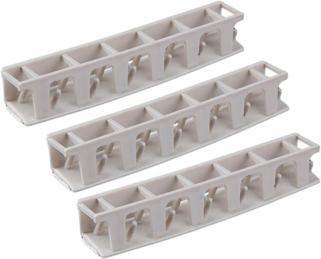 Colgante adhesivo de pl/ástico Colgador para organizador de colgadores Exhibidor pegajoso para montaje en rack Soporte para montaje en pared Ganchos Holder Juego de almacenamiento