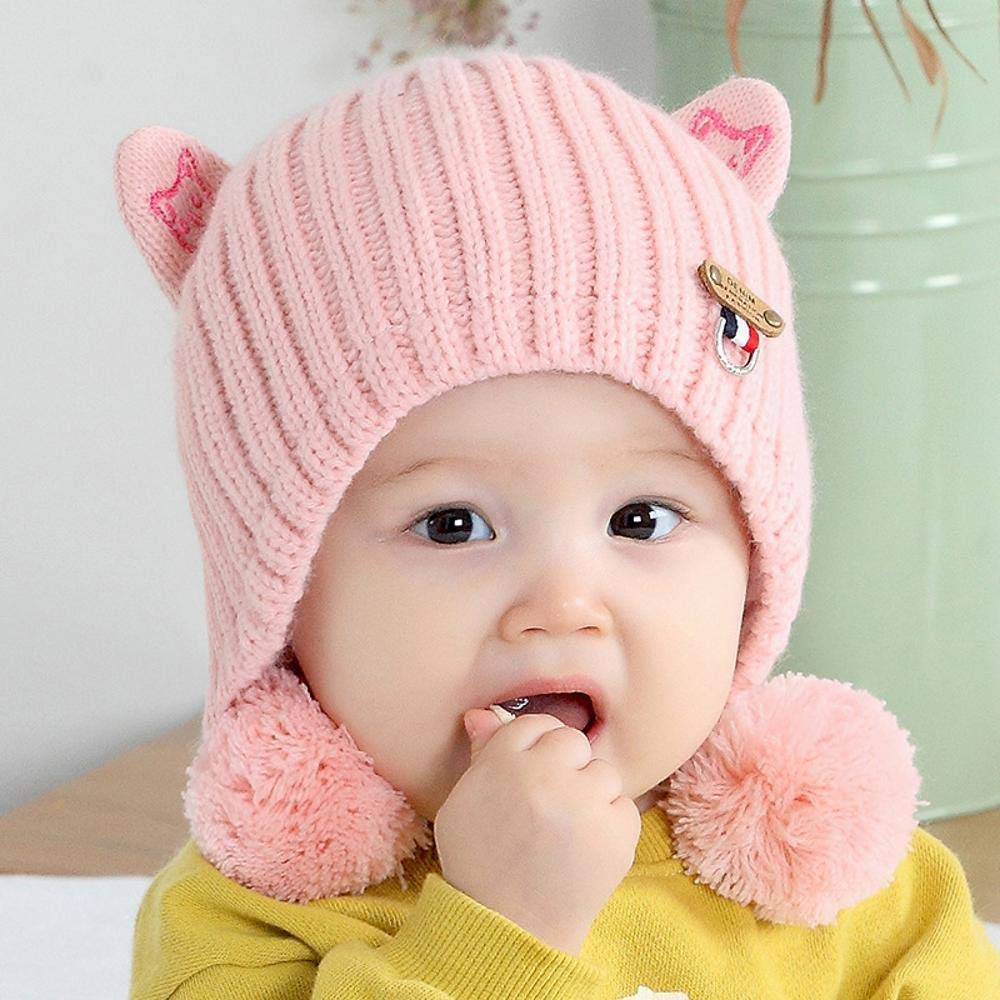 Myzixuan Baby Knit Cap Fall//Winter Thickening Baby hat Sweater hat Out Ear Cap