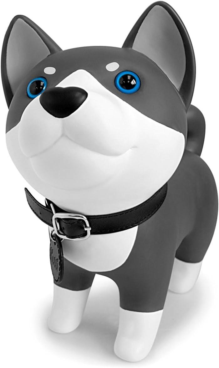 DomeStar Cute Dog Bank, Husky Coin Bank Kids Toy Bank Doggy Puppy Piggy Bank for Girls Boys