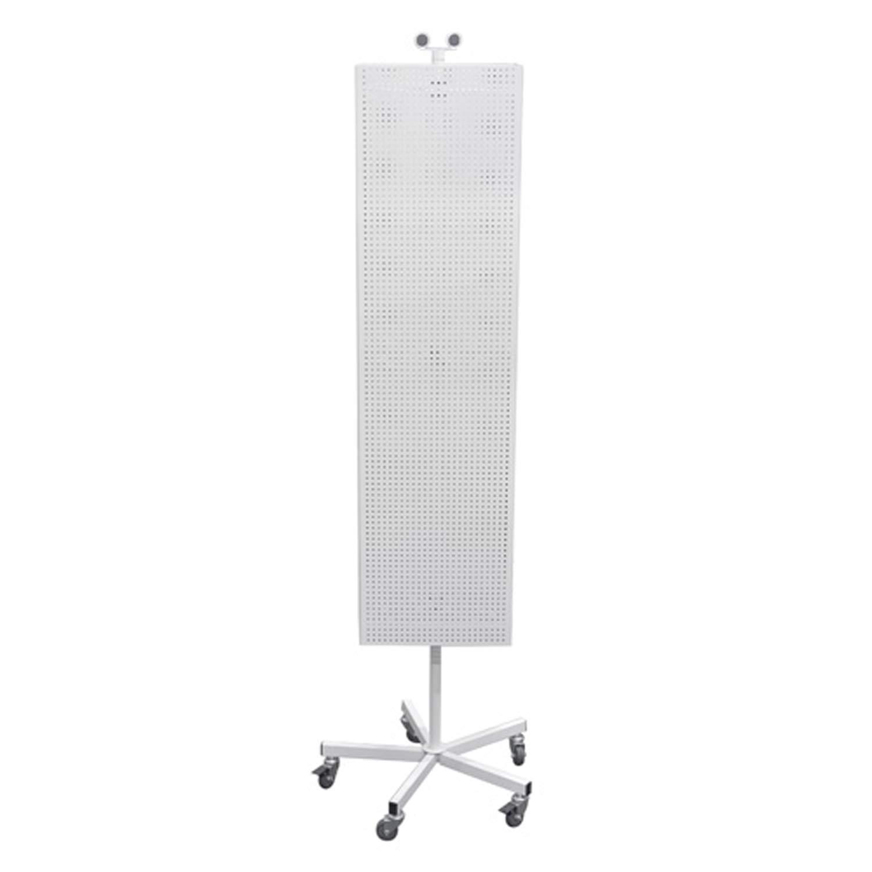 Metal Pegboard Floor Spinner Magnets Retail Store Displays Fixture 50 Peg Hooks White New