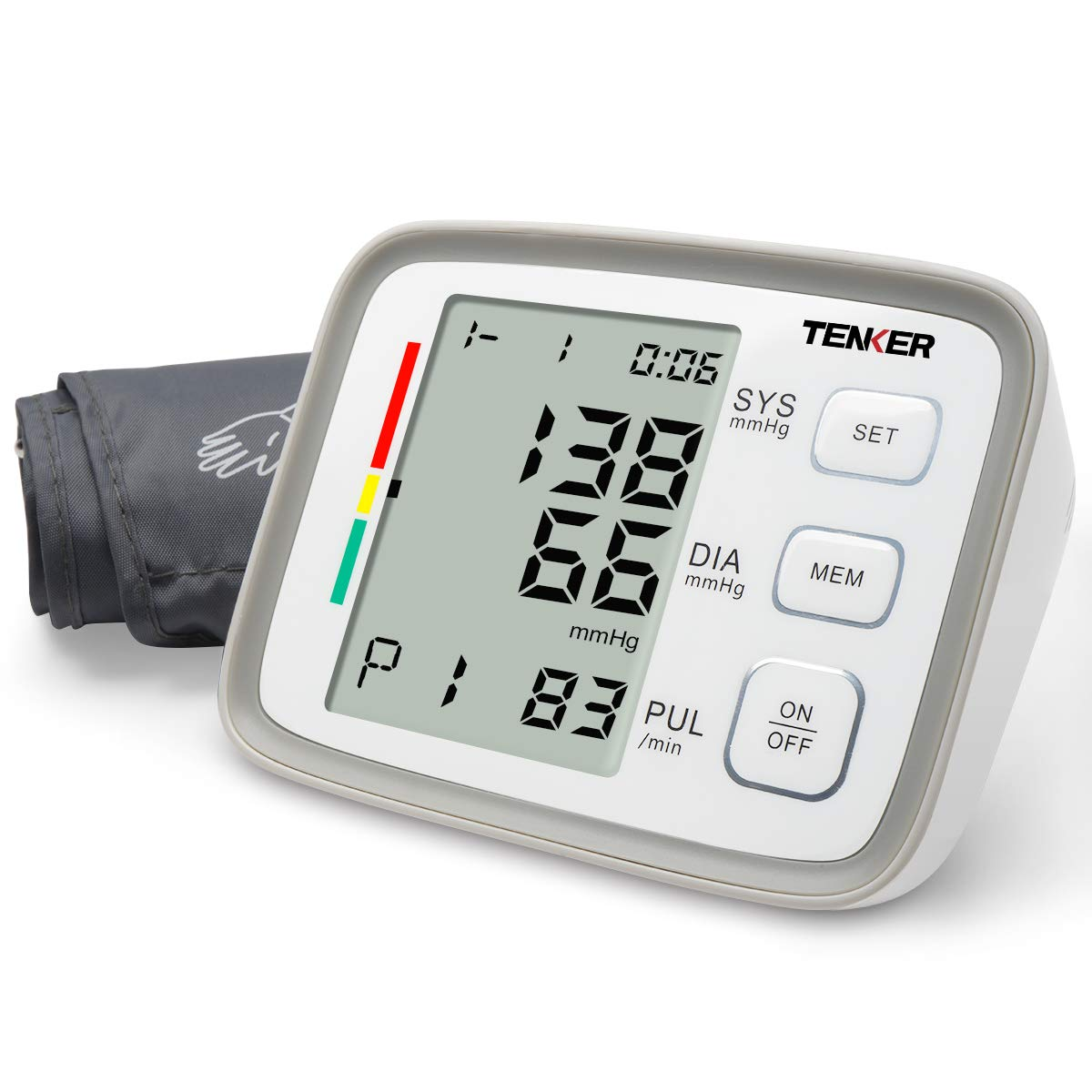 TENKER Blood Pressure Monitor Upper Arm,Home Digital Blood Pressure Machine Kit with Large Cuff - 2 Users 180 Storage,FDA Certified by TENKER