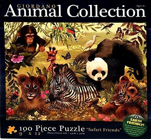 SAFARI FRIENDS 100 PIECE PUZZLE by Giordano Animal Collection: Amazon.es: Juguetes y juegos