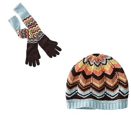 b7b91c18590 Missoni for Target Women s Pointelle Zig Zag Long Gloves   Beanie ...