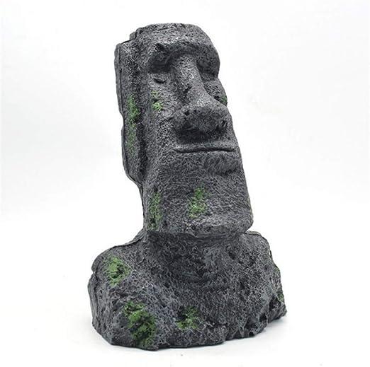 gengyouyuan Estatua de Piedra de Isla de Pascua Jardinería de Resina Caja de Reptiles Decoración del Tanque de Peces Paisajismo Moai Retrato paisajismo (Antiguo Retrato Romano [Extra Grande]): Amazon.es: Productos para mascotas