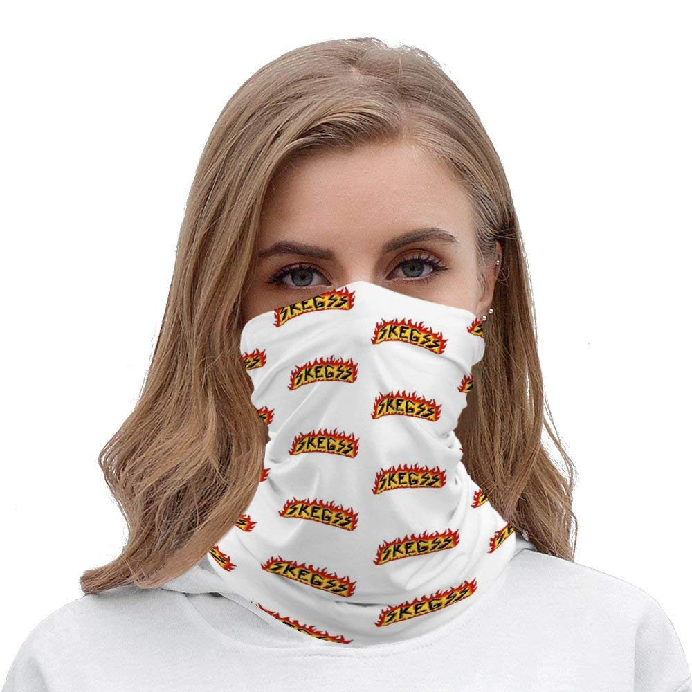 SOLVE GROCERY Skegss Logo Rave Face Mask Headband Bandana Mouth Cover Hair Ties Neck Scarf for Men and Women