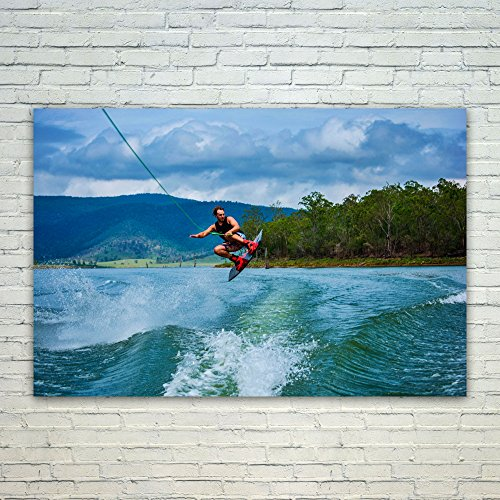 Westlake Art Poster Print Wall Art - Waterskiing Wakeboarding - Modern Picture Photography Home Decor Office Birthday Gift - Unframed - 24x36in