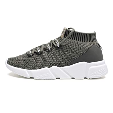 da2df01424a6b Amazon.com   FFSH Sports Shoes Flying Woven Breathable Sports Casual ...