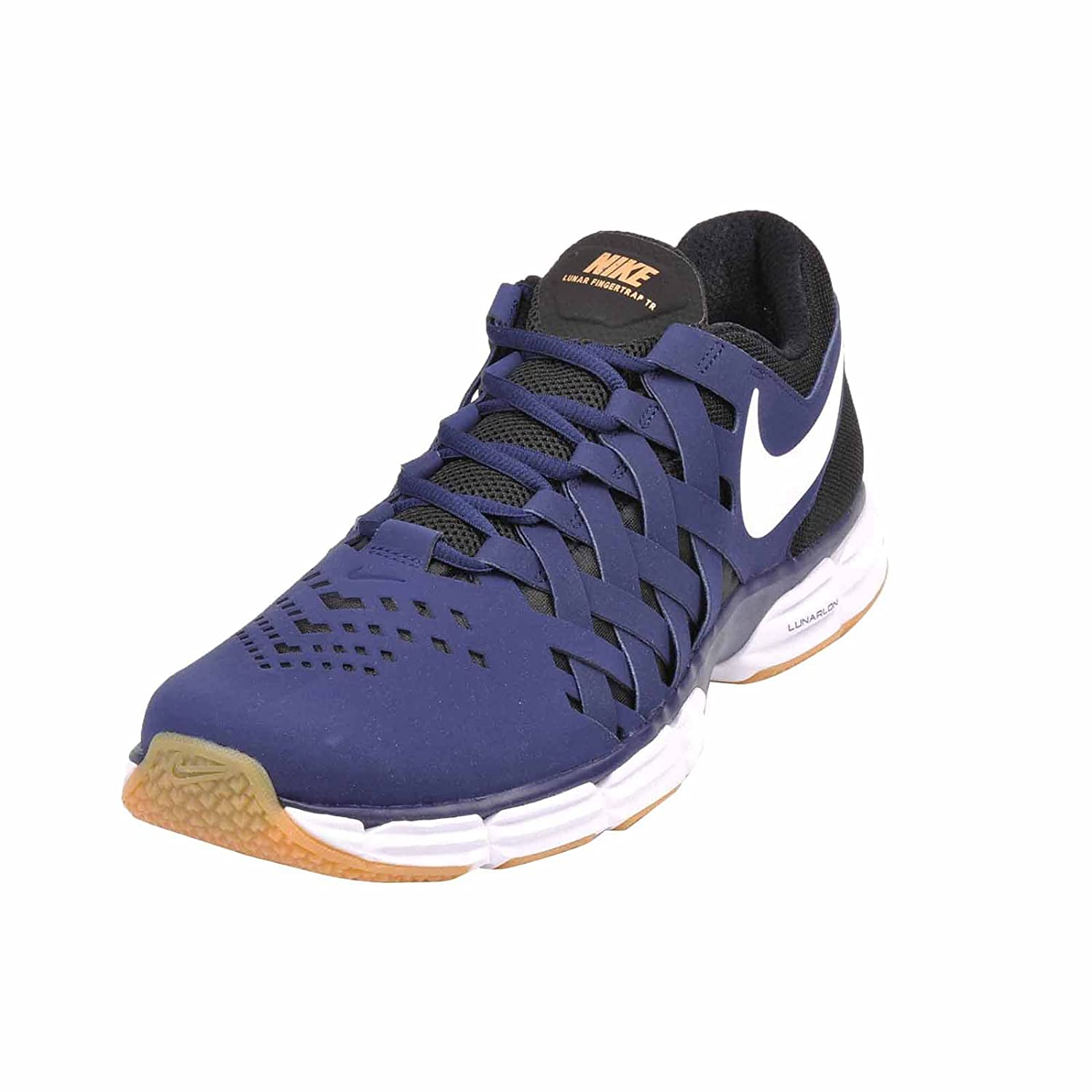 NIKE Men's Lunar Fingertrap Cross Trainer B06VW9HMBD 8.5 D(M) US|Binary Blue White Black