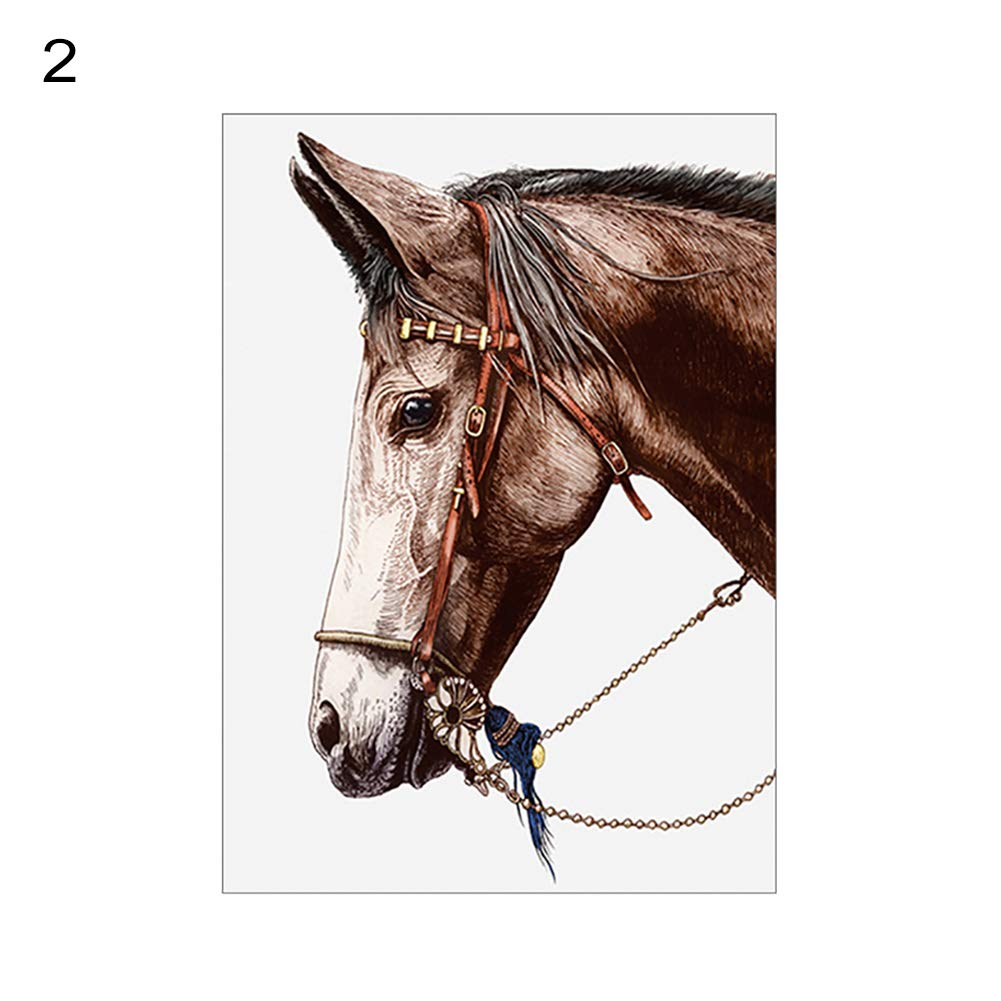 856store Creative Nordic Modern Horse Head Canvas Painting Wall Background Living Room Home Decor - 2# 2030