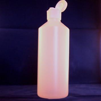 500 ml botellas de plástico HDPE transparente con tapas Flip X 10