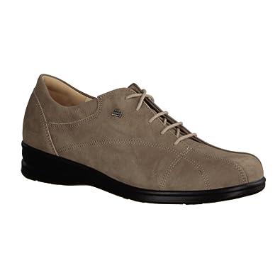 Finn Comfort - Zapatos de cordones de ante para hombre, color marrón, talla 42.5