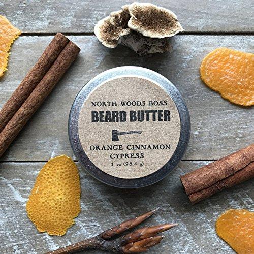 Beard Oil Organic Beard Conditioner Beard Balm Orange Cinnamon Cypress 1 OUNCE from Maine by North Woods Soap