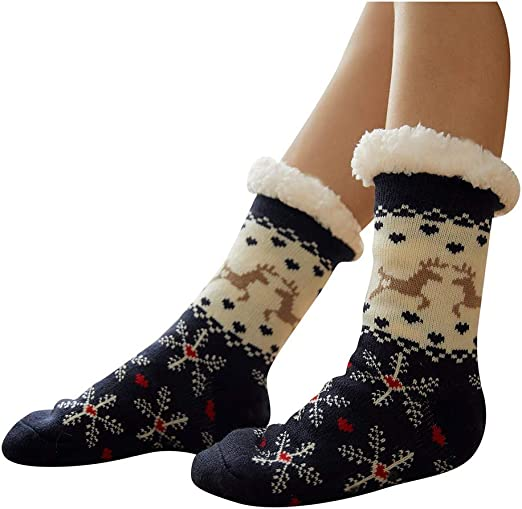 Ladies//Girls Thermal Thick Extra Warm Fun Novelty Lounge Slipper Socks Xmas Gift