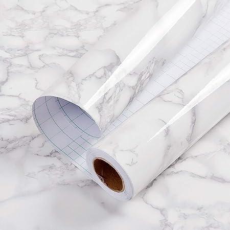 Large Art Déco Marbre Bois Frise de Papier Peint Adhésif Dos Collant