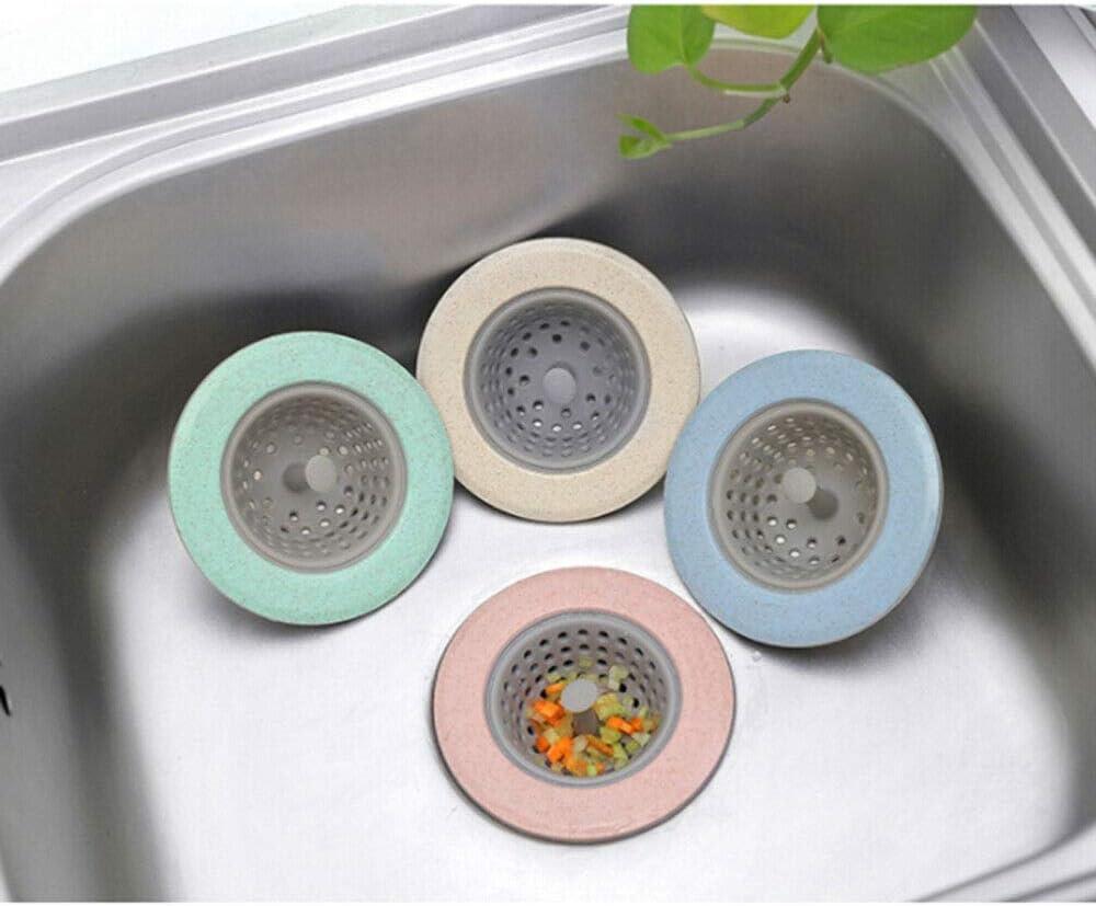 Rosa JGDD 4 St/Ücke Gro/ßer 4,5-Zoll-Durchmesser Anti-Clog-silikon-sieb Mit Flexiblem Waschbecken Zubeh/ör F/ür Badewanne Und K/üche 4 Farben Breiter Rand Flexibles Waschbecken-sieb Anti-Clog