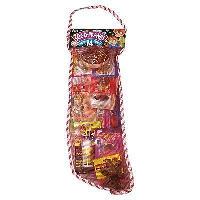 """Joker SOC-O-Pranks Full of Pranks Christmas Stocking 14pc 22"""" Gift Set, Red: Toys & Games"""