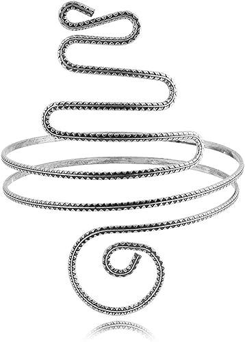 Vintage Bohemian Upper Arm Bracelet Swirl Spiral Open Bangle Armlet Arm Cuff Hot