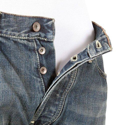 ijin Herren J520823Z rot Line Hiro Wash Denim Jeans ijin2244