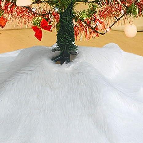 Elegant Christmas Tree Skirts.Awtlife Luxury Faux Fur Christmas Tree Skirt 60 Inches Soft Snow White Elegant For Holiday Decor