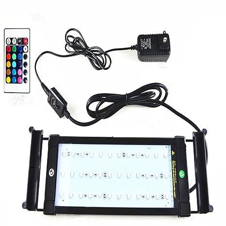 Asvert Lámpara de Acuario Luz LED Acuario 2 Modos Control Remoto de Iluminación para Acuarios de
