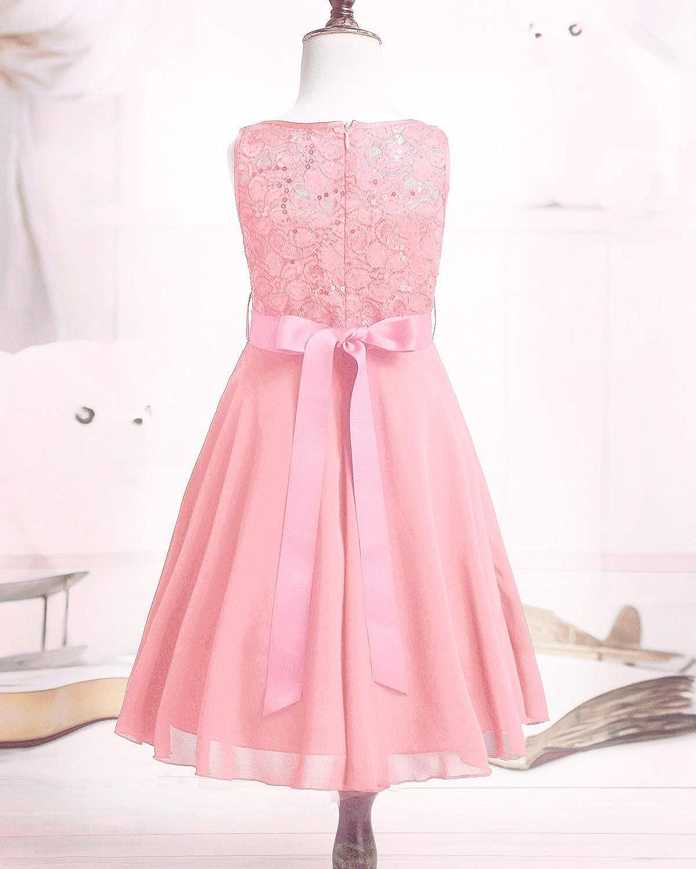 Vestido de Princesa de Gasa con Encaje Floral y Diamantes de imitaci/ón Vestido de Concurso inhzoy Vestido de Novia para Dama de Honor