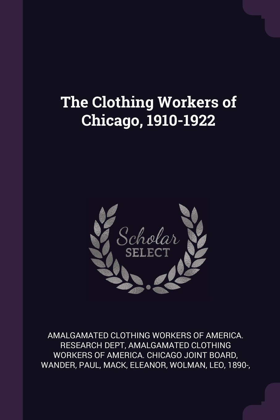 Read Online The Clothing Workers of Chicago, 1910-1922 ebook