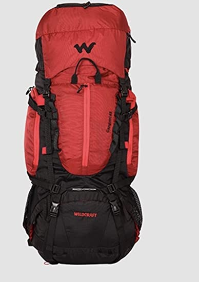 312beef785 Wildcraft 65 Ltrs Red Hiking Backpack (Gangotri Plus Red)  Amazon.in ...