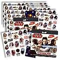 Star Wars the Last Jedi Stickers - Star Wars Stickers Party Favors ~ Set of 2 Sticker Packs Bundle ~ 12 Sheets Over 240 Stickers plus Bonus Reward Stickers! Star Wars 8