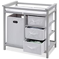 Costzon Baby Changing Table, Infant Diaper Changing Table Organization, Diaper Storage...