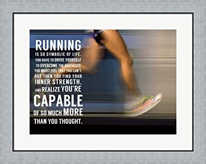 Amazon.com: Running by Sports Mania Framed Art Print Wall Picture ...