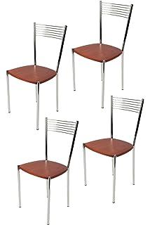 Sedie In Alluminio Per Cucina.Tommychairs Set 4 Sedie Moderne E Design Elena Per Cucina Bar E