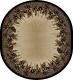 "Cheap Rug Empire 3823 Rustic Lodge Mount Le Conte Area, 7'10"" x 9'10"" Oval"