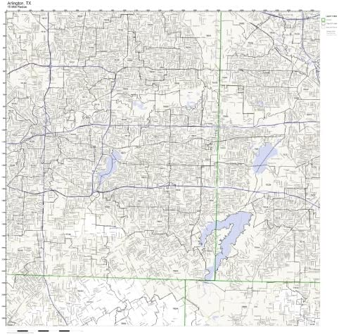 Amazon Com Arlington Tx Zip Code Map Laminated Home Kitchen