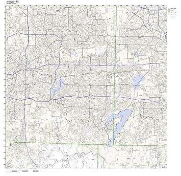 Worksheet. Amazoncom Arlington TX ZIP Code Map Laminated Home  Kitchen