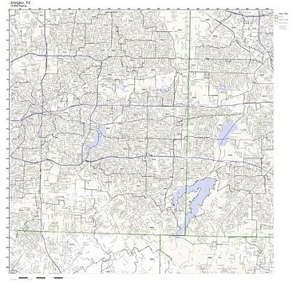 Amazon.com: Arlington, TX ZIP Code Map Laminated: Home & Kitchen