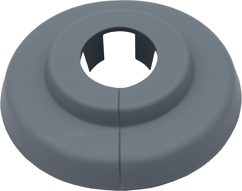 18mm, RAL 7040 22mm Polypropylen in Sonderfarben Heizung Abdeckung f/ür Heizungsrohre 18mm 20 St/ück Einzel-Rosetten f/ür Heizungsrohre in fenstergrau 15mm RAL 7040