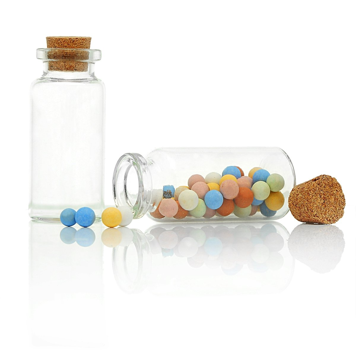 Mini Glass Bottles Vials With Corks for Message Weddings Wish Jewelry Party Favors 5pcs