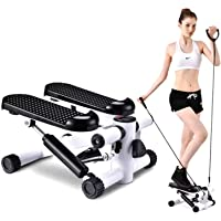 SuxiDi Mini Adjustable Stepper Air Climber Step Fitness Exercise Machine with Resistance Band and LCD Display