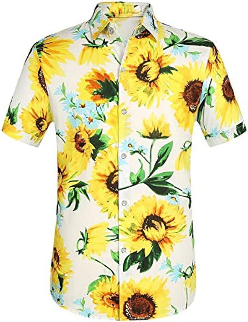 HULKY Camisas Hawaianas Hombre Camisas Hombre Manga Corta Camisas Estampadas Hombre Camisas de Flores Camisas Fiesta Camisas Playa Verano Vacaciones Tops Casual T Shirt Hombre: Amazon.es: Ropa y accesorios