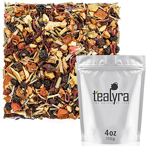 Flower Iced Tea - Tealyra - Pink Lemonade - Hibiscus Lemongrass Orange - Fruity - Herbal Loose Leaf Tea - Caffeine-Free - Vitamines Rich - Hot and Iced Tea - 110g (4-ounce)