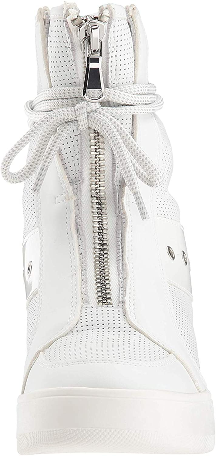 Steve Madden Women's Anton Sneaker White Leather