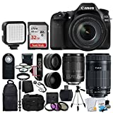 NEW Canon EOS 80D DSLR Camera with 18-135mm Lens Video Creator Kit + EF-S 55-250mm IS STM Lens + 72mm 2x & Wide Angle Lens + SanDisk 32GB Card + Video Monopod + LED Video Light + Accessory Backpack