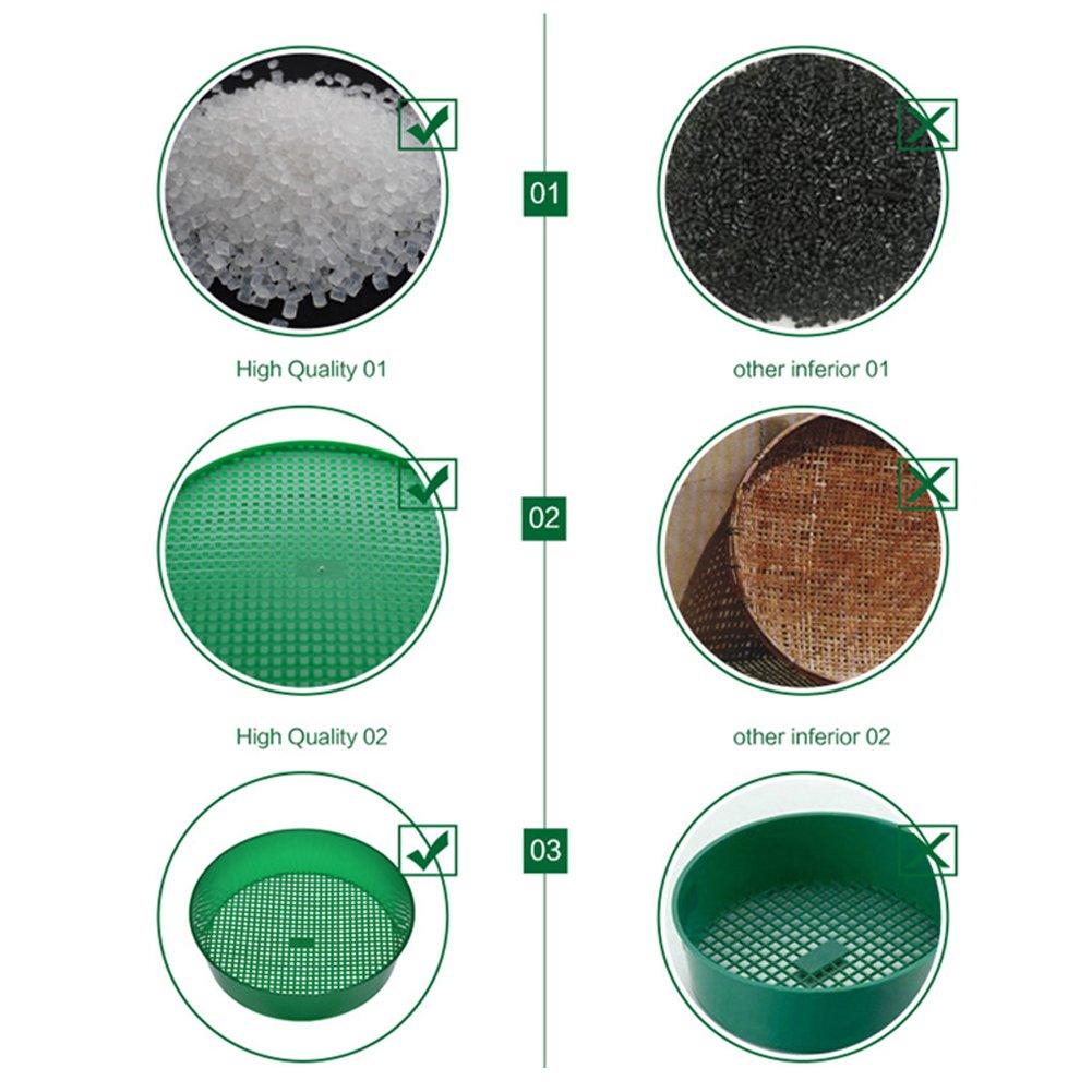 setaccio setaccio di plastica da giardino Garden Hand Tool Riddle maglia del suolo verde Garden colino