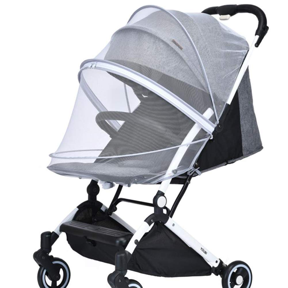 Zipper Opening//Closing Gray Mosquito Net for Strollers Universal Size Crib 360/° Full-Cover Mosquito Net Car Seats Easy to Install