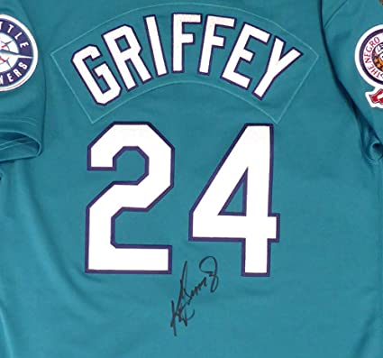 acf5526e6d3 Seattle Mariners Ken Griffey Jr. Signed Auto Authentic Mitchell & Ness 1995  Teal Jersey Size