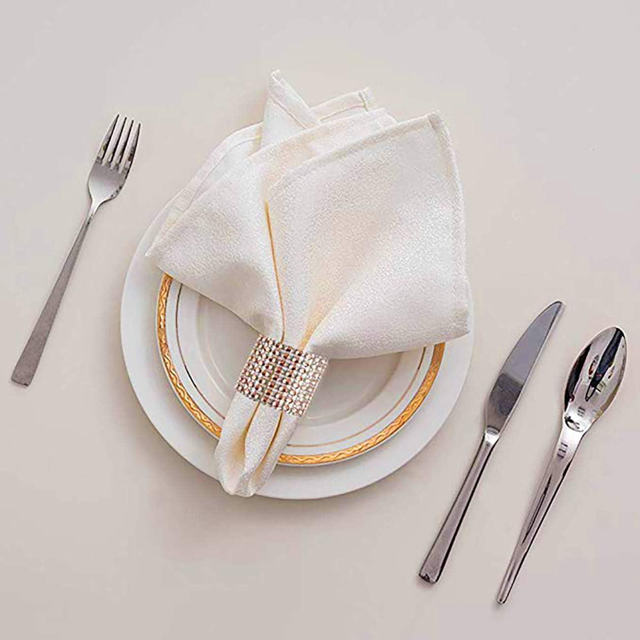 Artensky napkin rings 100Pcs Rond Serviette Anneau Diamant Décoration Table Fête