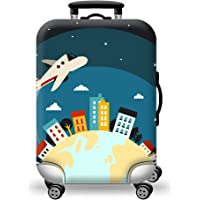 TDC Men's Elastic Luggage Cover Airplane Printing